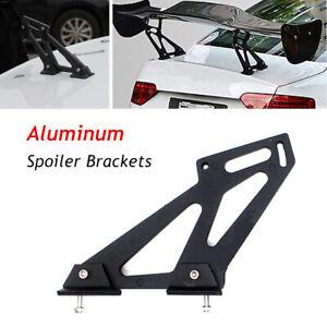 A Pair Universal Black Rear Wing Trunk Spoiler Legs Brackets Mount Side Plates