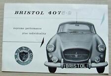 BRISTOL 407 5.2 Car Sales Brochure Oct 1962