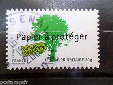 FRANCE 2008, timbre 4205 autoadhésif 183, ARBRE, BUREAU DURABLE, oblitéré