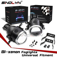 2.5'' Fog Lights HID Bi-xenon Projector Lens Retrofit Driving Lamps Waterproof