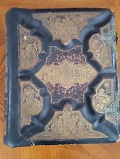 """Antique 1886 """"The Parallel Bible"""" -OLD and NEW Versions in Parallel Columns"""