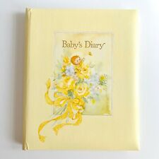 Vintage 1977 American Greetings Baby's Diary Keepsake Album Book Unisex Yellow