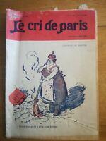 JOURNAL Le cri de paris - mode N°1202 - 1920