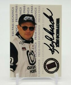 1999 Press Pass Signings KEN SCHRADER on Card Auto Insert NASCAR HOFer Authentic