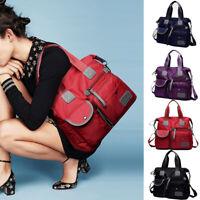 Shoulder Bag Women Nylon Cross body Travel bag Solid Colour Zipper Waterproof UK