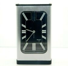 Magnificent Rare Mid-Century Swiza 8-Day Swiss-Made Alarm Clock