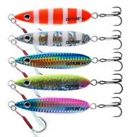Goture 5pcs/lot Metal Jig Spoon Fishing Lure Vertical Jig 40g 60g Tuna Kingfish