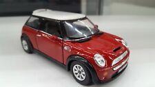 New Mini Cooper S dark red brown Kinsmart Car Model TOY 1/28 scale diecast new