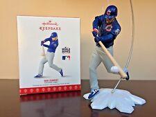 2017 Hallmark Ornament Ben Zobrist  Chicago Cubs 2016 World Series MVP