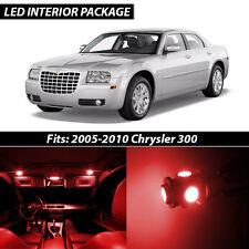 2005-2010 Chrysler 300 Red Interior LED Lights Package Kit
