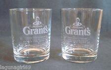 2 Grant's Scotch Whisky 100 Year Anniversary Glasses Pub Bar Grants Whiskey