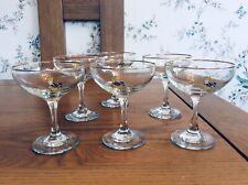 More details for set of six vintage babycham glasses, 1970's. mint condition