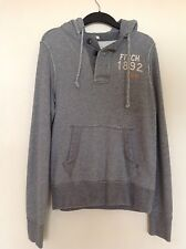Abercrombie & Fitch men's grey muscle graphic hoodie size small