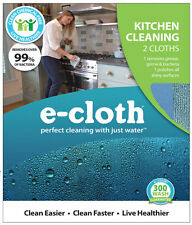 NEW! E-CLOTH Kitchen Polyester / Polyamide Cleaning Cloth 2-Pack 10601