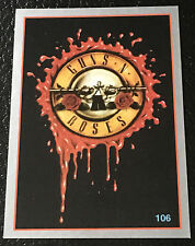 Guns N Roses Symbol 1997 Argentina International Rock Cards Sticker Guitar Rare