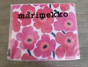 Marimekko Mini Unikko KING Sheet Set Red Cotton NIP