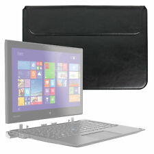 Black PU Leather Envelope-Style Pouch / Case for Toshiba Portege Z20t two-in-one