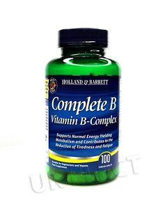 Holland & Barrett Complete B & Vitamin B-Complex Tablets - Engery, Tiredness