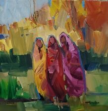 JOSE TRUJILLO Oil Painting IMPRESSIONISM FIGURES ORIGINAL MODERN SOUTHWEST ART