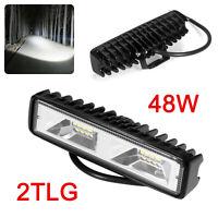 2X LED Arbeitsscheinwerfer Light Bar 48W Offroad Flutlicht Strahler 12V 24V SUV