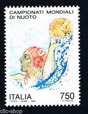 ITALIA 1 FRANCOBOLLO CAMPIONATI MONDIALI NUOTO PALLANUOTISTA 1994 nuovo**