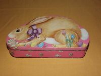 VINTAGE BUNNY RABBIT EASTER EGG TIN