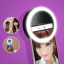 Selfie Ring LED Light for Smartphone Cell Phone for Apple iPhone 6 6S Plus-Black