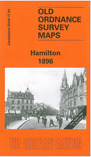 OLD ORDNANCE SURVEY MAP HAMILTON 1896