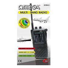 Omega 4997 Black CB-FM TV-1 AIR PB/MARINE WB Multi Band Radio New