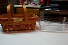 1996 Longaberger Christmas Holiday Cheer Basket Set in Red Excellent Condition
