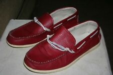 Robert Wayne Deuce Sz 12D 600 Red Moc Toe Slip-on Boat Casual Shoe Men's Euc