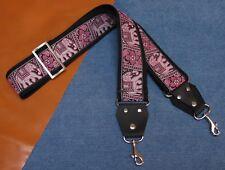 PINK ELEPHANTS Cotton TROPHY Rockstar USA made Bag, Purse, Case Strap
