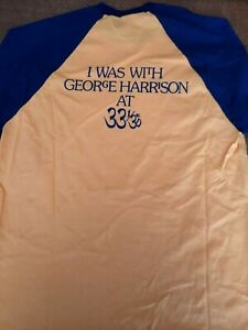 George Harrison Thirty Three & 1/3 T-shirt - pre owned, never worn