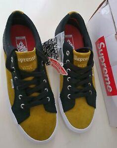 Supreme Vans Lampin Pro Croc Corduroy black/mustard trainers US 12 UK 11 EU 46