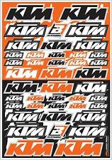 Blackbird KTM Logo Sticker Graphic Decal Sheet