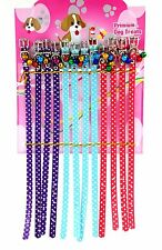 12 x PET DOG CAT COLLARS ADJUSTABLE WITH BELLS DIFFERENT STYLES WHOLESALE