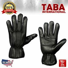 Mens Warm Winter Gloves Dressing Glove Thermal Linning Genuine Leather Black