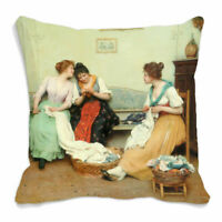 "Women Talking Digital Printed Cushion Cover Sofa Home Décor Pillow Case 12""-24"""