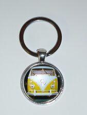 VW CAMPERVAN Yellow metal keyring keychain Car gift present - New