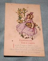 "Vintage - ""Birthday Thoughts"" Postcard Series 1096 C"