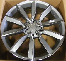 """18"""" SLINE STYLE GUNMETAL WHEEL RIM ONE REPLACEMENT 5x112 FOR AUDI A4 A5 B7 B8 A8"""