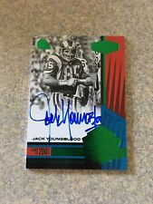 JACK YOUNGBLOOD 2017 PANINI PLATES AND PATCHES CANTON CALLIGRAPHY GREEN #/25 RAM
