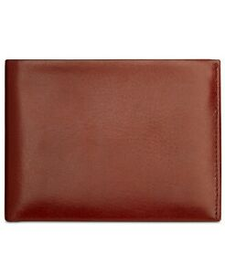 Perry Ellis Men's Wallet Brown Passcase Card Case RFID Bifold Leather $49 #313