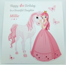 Personalised Birthday Card - Daughter Granddaugher Niece, 3rd 4th 5th Any Age