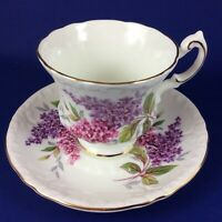 Roslyn Fine Bone China Lilacs Tea Cup And Saucer
