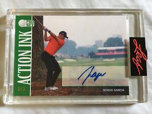 2021 Leaf Pro Set Sports Emerald Edition Sergio Garcia Autograph /3 SSP Auto