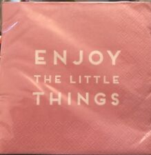 "Napkins - 20pk ""enjoy The Little Things"" Pink"