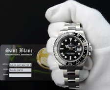 ROLEX Stainless Steel GMT Master II Black CERAMIC 116710 w/ BOX TAGS SANT BLANC