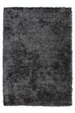 Hochflor Uni Teppich Modern Shaggy Teppiche Wohnzimmer Weich Grau Rosa Pastell