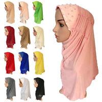 Muslim Women Hijab Scarf Cap Head Cover Islam Headwear Hat Underscarf Shawl Wrap
